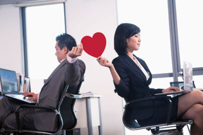 Passing heart in office
